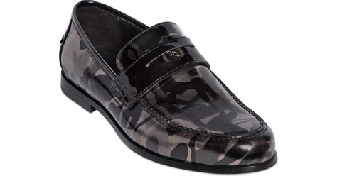 jimmy choo camo loafer jimmy choo camo printed leather loafers in metallic