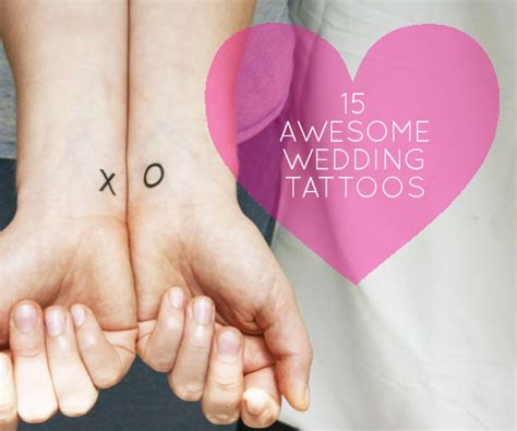 marriage tattoo designs modern weddings 15 awesome wedding ideas design