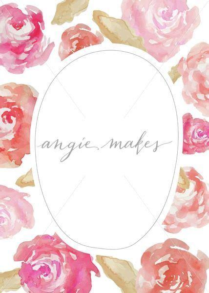 watercolor roses invitation blank invitation