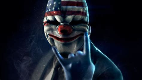 Topeng Dallas Payday Hardresin payday the heist dallas clown mask