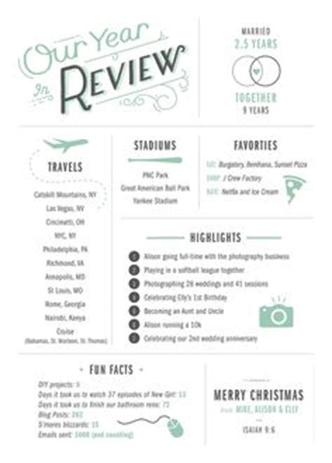 card newsletter template year in review card much more interesting than