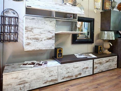mobili a parete per soggiorno mobile parete soggiorno vintage offerta outlet nuovimondi
