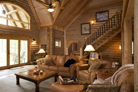 Log Home Living Rooms by Log Home Lavely Traditional Living Room