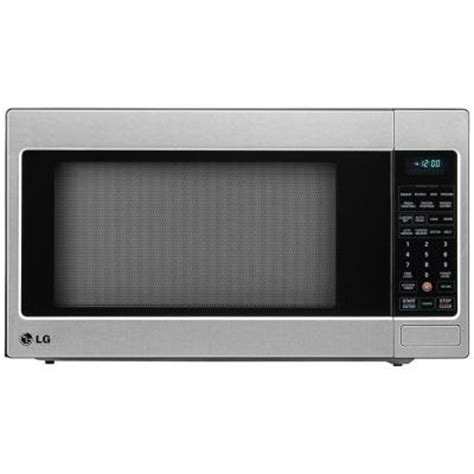 Built In Countertop Microwave lg electronics 2 0 cu ft countertop microwave in stainless steel built in capable with sensor