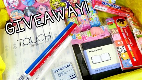 Art Supplies Giveaway - art supply giveaway youtube