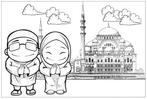 Upin Ipin Mengenal Olahraga 10 mewarnai gambar islami