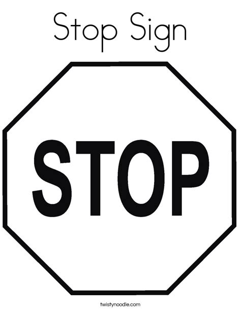 stop sign coloring pages coloring home