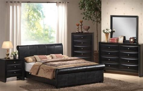 cyber monday bedroom furniture black friday 4pcs california king size bedroom set black