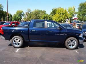 Dodge Ram True Blue Pearlcoat 2012 True Blue Pearl Dodge Ram 1500 Big Horn Crew Cab 4x4