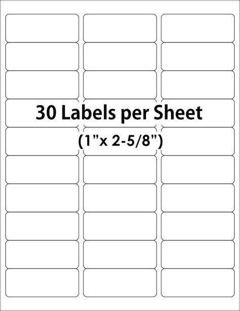 Avery 30 Up Label Template The Hakkinen 10 Up Label Template