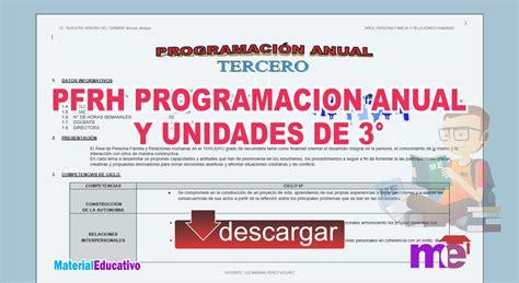 competencias de pfrh pfrh programacion anual y unidades de 3 176 secundaria