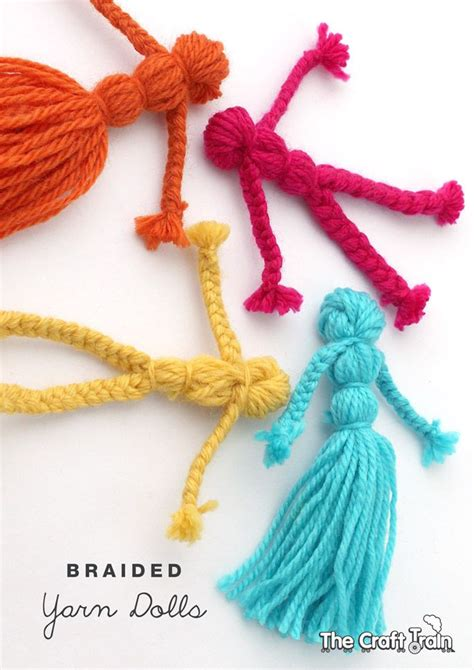 easy yarn crafts for best 25 yarn dolls ideas on chicken