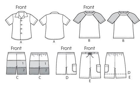 pattern shirt boy mccall s 6548 children s boys shirt top and shorts