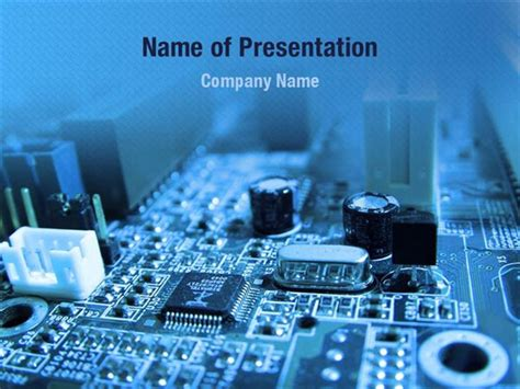 themes powerpoint electronics blue circuit powerpoint templates blue circuit