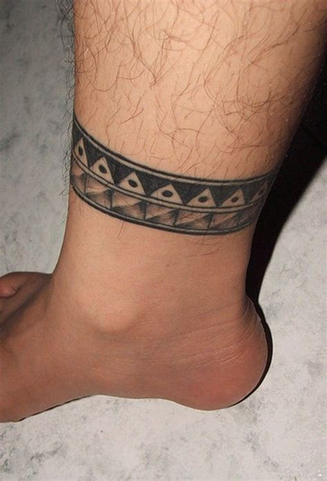 ankle band tattoos for men mens ankle designs tattoos ankle