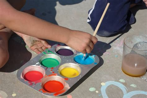 diy sidewalk chalk paint recipe sidewalk chalk paint happiness is