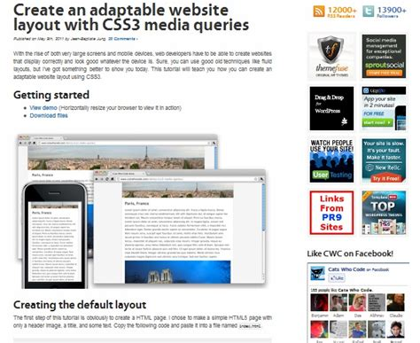 responsive layouts using css media queries 35 responsive web design and development tutorials