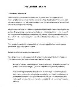contract employment template 11 contract templates free word pdf documents