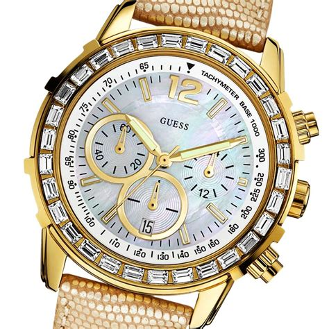 Best Arloji Guess Bonia Gold new genuine guess w0017l2 luxury gold leather