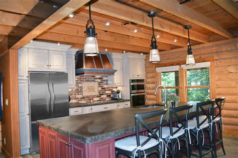 rustic kitchen with pendant light by studio76 zillow digs