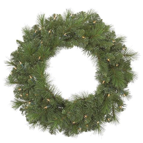 36 inch artificial sierra pine christmas wreath clear pre