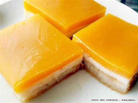 vintage summer dessert with orange juice and rusks