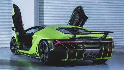 Lamborghini Green by Behold A Bright Green Lamborghini Centenario Top Gear