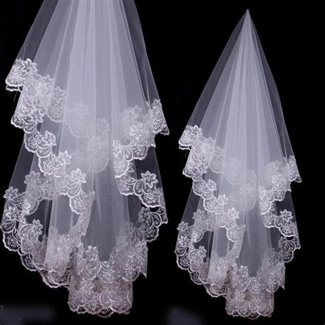 7 Stunning Wedding Veils by Aliexpress Buy Beautiful Lace Appliques Wedding