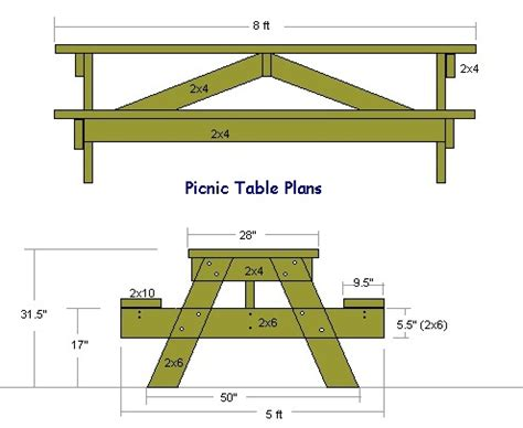 picnic table plans 21 wooden picnic tables plans and guide