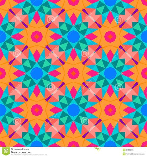 bright pattern background vector multicolor geometric pattern in bright color royalty free