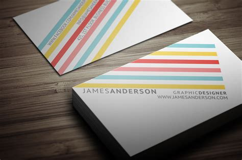 Color Business Card Templates by Color Stripes Business Card Business Card Templates On