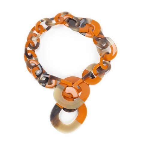 Hermes Horn Necklace Blue jemznjewels hermes jewelry