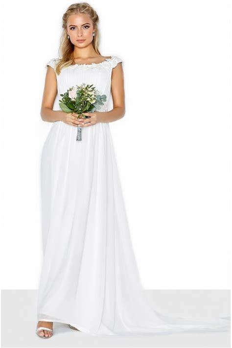 Bardot Lace Wedding Dress by Bardot Lace Trim Bridal Dress From Uk
