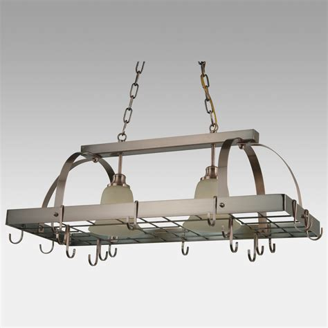 Kitchen Light Pot Rack Kitchen Light Fixtures That Also A Pot Rack Mike