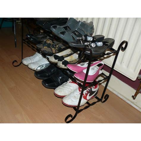 shoe rack wrought iron shoe storage handmade