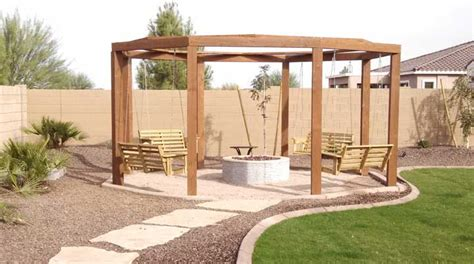 swing fire pit plans fire pit archives arizona living landscape design