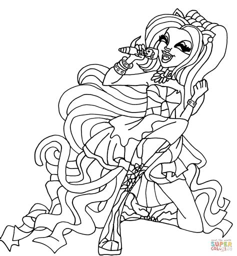 coloriage monster high catty noir coloriages 224 coloriage catty noir coloriages 224 imprimer gratuits