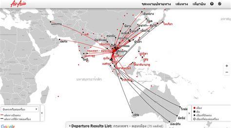 airasia route เส นทางบ นแอร เอเช ย เฉพาะเส นทางดอนเม อง