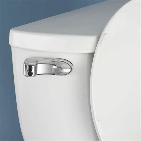 bathroom flusher the touchless toilet flusher hammacher schlemmer
