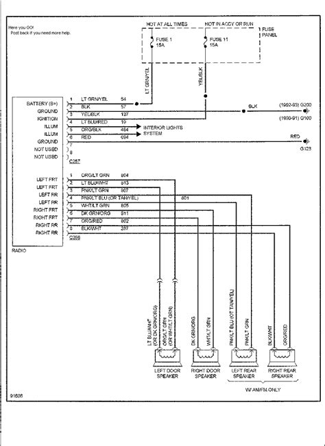 1991 ford ranger stereo wiring diagram wiring diagram