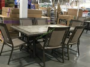 agio international patio furniture agio international 7 pc sling dining set costcochaser