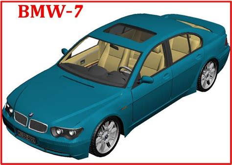 bmw 7 paper car free vehicle paper model 7