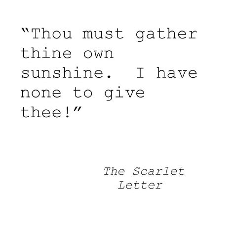 Scarlet Letter Character Quotes The Scarlet Letter Important Quotes