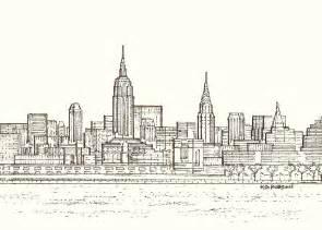 original print of the new york city skyline