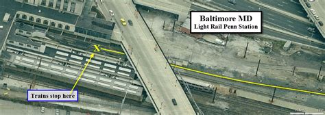 baltimore railfan guide central baltimore map
