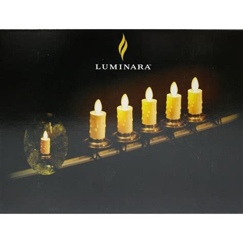 luminara christmas tree strand candles luminara 09928 5 light green wire led realistic candle light string set