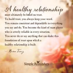 healthy relationships are based on trust by brian tracy