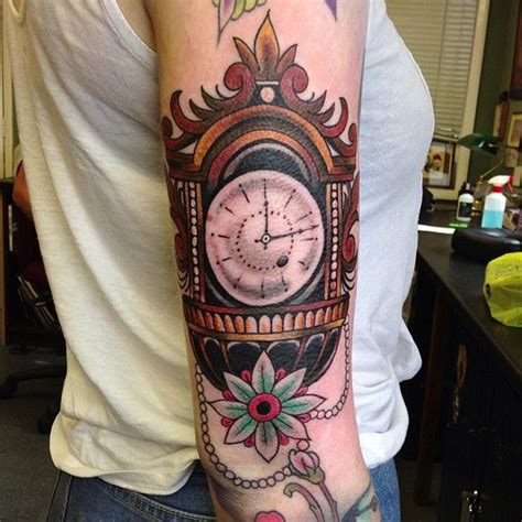 grandfather clock tattoo designs 1000 images about ink on foo sleeve and