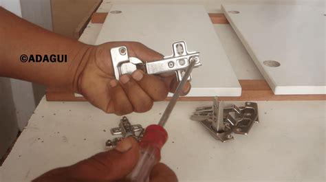 como instalar bisagras de cazoleta puertas muebles de