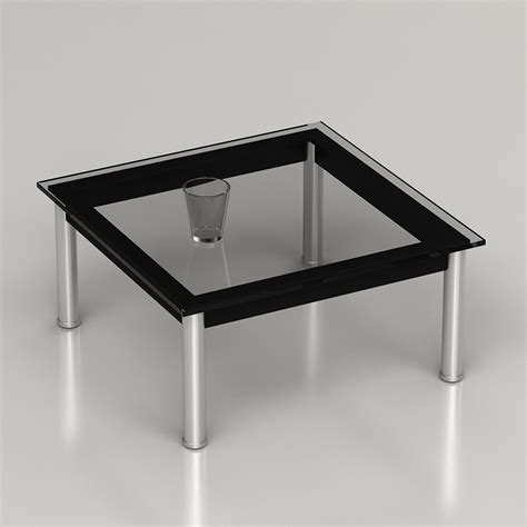 Le Corbusier Coffee Table 3d Le Corbusier Lc10 Coffee Table High Quality 3d Models